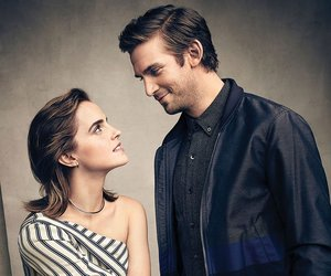 emma watson, dan stevens, and beauty and the beast image