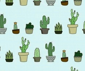 wallpaper, cactus, and plants image