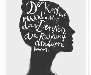 deutsch, gedanken, and denken image