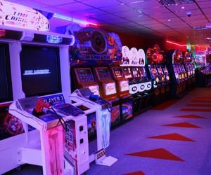 purple, aesthetic, and arcade image