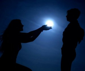 moon, photography, and love image