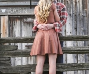barn, couple, and boots image