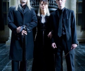 draco malfoy, narcissa malfoy, and harry potter image