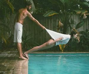 couple, boy, and pool image