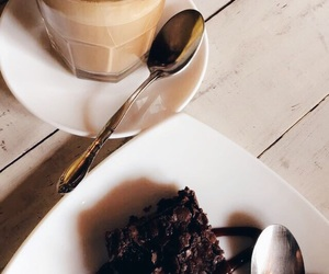 brownie and coffe image