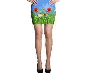 poppies, daisies, and skirt image
