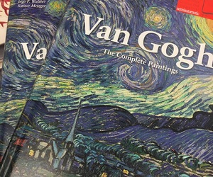 book, aesthetic, and van gogh image