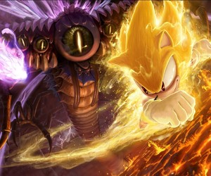 super sonic, final boss, and sonic unleashed image