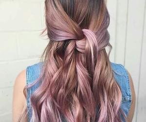 brunette, girl, and hair image