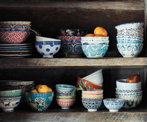 bohemian, cups, and wood image