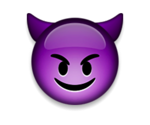 Devil, smiley, and ios image