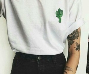 cactus, girl, and goals image