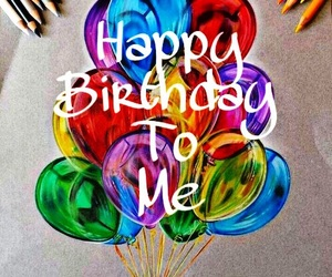 birthday, happy, and me image