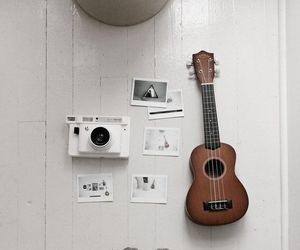 photography, polaroid, and ukelele image