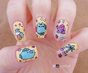 dinosaur, nail art, and nail polish image