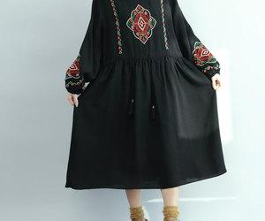black dress, blue dress, and etsy image