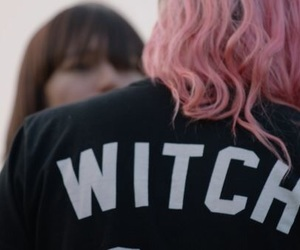 witch, hair, and pink image