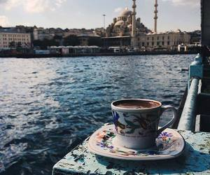 coffee, istanbul, and sea image