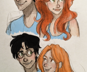 harry potter, jilly, and hinny image