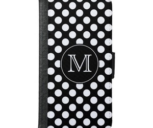 polka dot, black and white, and pattern image