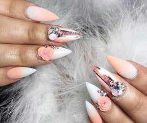 3d, peach, and nail art image