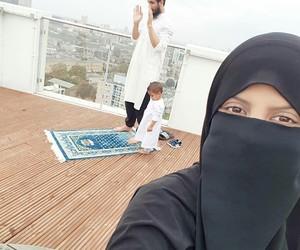 islam, niqab, and muslim couple image