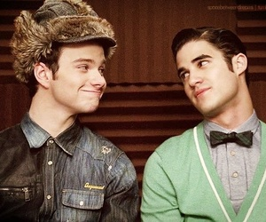 glee, klaine, and chris colfer image