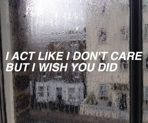quote, Lyrics, and rain image