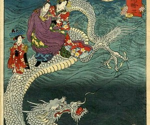 art, dragon, and japanese image