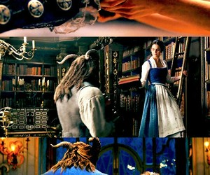 beauty and the beast, disney, and books image