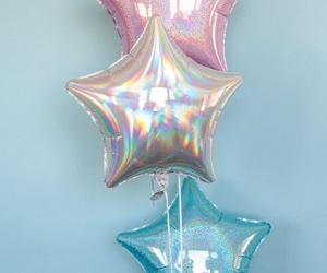 stars, balloons, and blue image