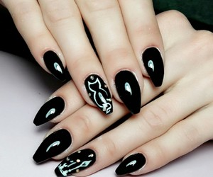black, lovecats, and nails image