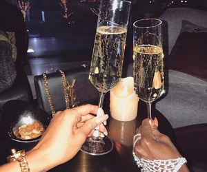 champagne, drinks, and luxury image