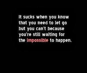 quote, impossible, and sad image