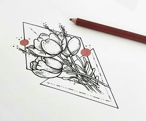 art, flower, and jinochova image