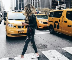 girl, new york, and travel image