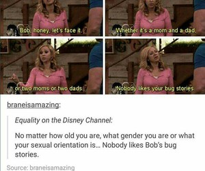true, disney channel, and tumblr post image
