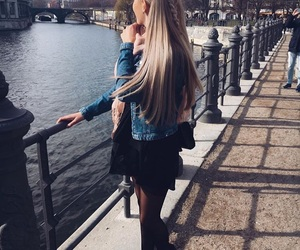 beauty, blonde, and city image