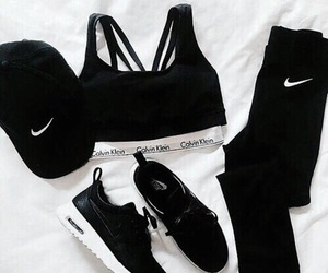 nike, black, and outfit image