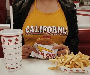 food, yellow, and burger image