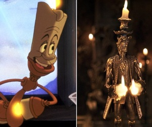 animation, beauty and the beast, and candlestick image