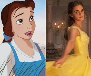 animation, belle, and disney image
