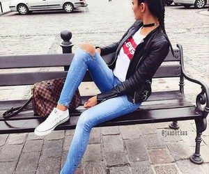jeans, fashion, and levis image