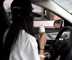 girl, tumblr, and ice cream image