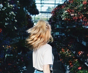 flowers, blonde, and hair image