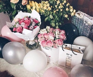 balloons, flowers, and birthday image