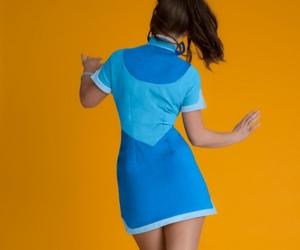 blue dress, clubwear, and mini dress image