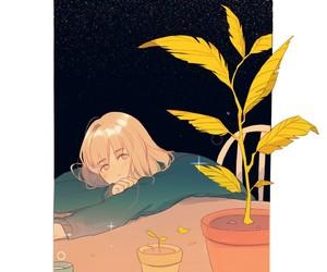 plants and anime girl image