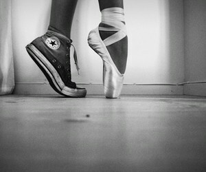 ballet, converse, and dance image