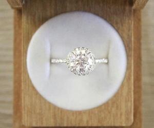 bride, diamond, and proposal image